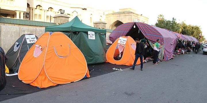 """Irak'ta """"Sivil İtaatsizlik"""" Eylemi Devam Ediyor"""