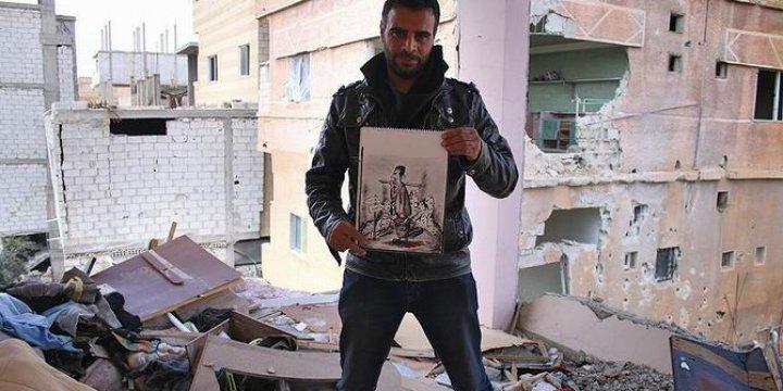 Suriyeli Ressam Savaşa Sanatıyla Direniyor