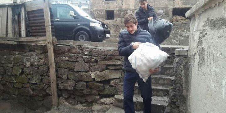 Tatvan Özgür-Der'den Suriyeli Ailelere Yardım Kampanyası