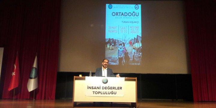 """Uludağ Üniversitesi'nde """"Ortadoğu: Zulüm, Direniş, Umut"""" Semineri"""