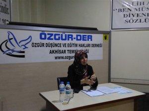 """Akhisar Özgür-Der'de """"Günümüz İslamcılık Tartışmaları"""" Konuşuldu"""