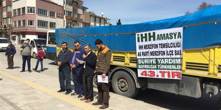 Amasya Merzifon'dan Bayırbucak'a 1 Tır Yardım Gönderildi