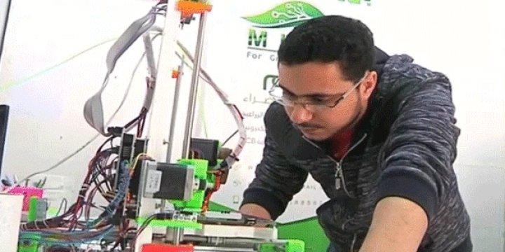 Gazzeli Mühendis Ebu Matar Üç Boyutlu Yazıcı Üretti