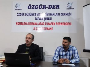 """Tatvan Özgür-Der'de """"Muhkem ve Müteşabih"""" Kavramları Konuşuldu"""