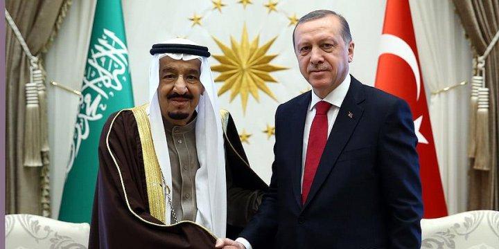 Cumhurbaşkanı Erdoğan İle Kral Selman Görüştü