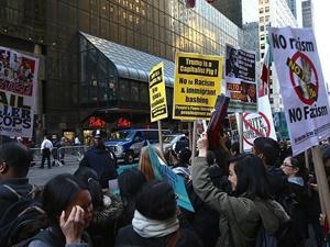 ABD'de Cumhuriyetçi Parti'nin Yıllık Galası Protesto Edildi