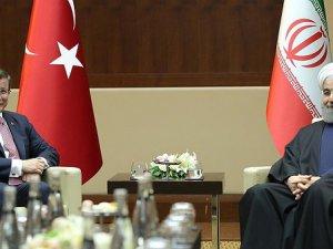 Başbakan Davutoğlu ile Ruhani Ankara'da Görüştü
