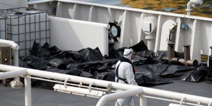 Afrika'dan İtalya'ya Geçmeye Çalışan Yüzlerce Göçmen Öldü