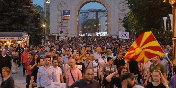 Makedonya'daki Eylemler Sürüyor