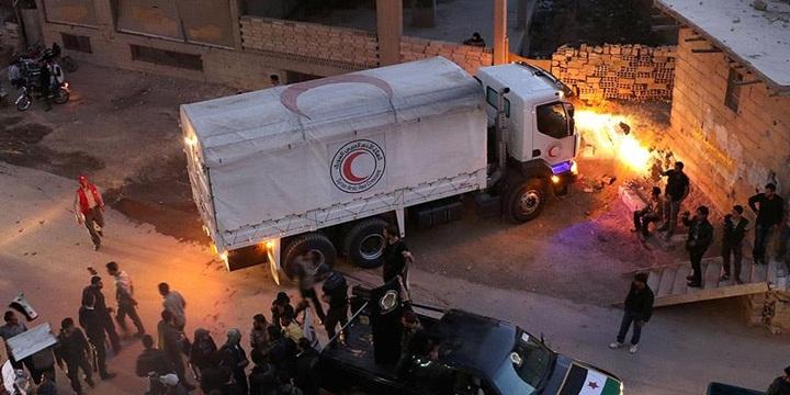 Esed Rejimi Darayya'ya Giden Yardım Konvoyunu Geri Gönderdi!