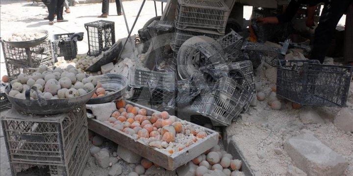 Esed Güçleri Halep'te Pazar Yerine Saldırdı: 10 Ölü