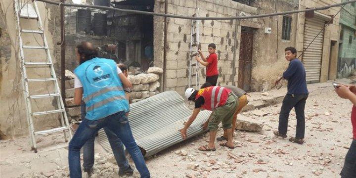 İMKANDER Yardım Dağıtırken Bombaların Hedefi Oldu