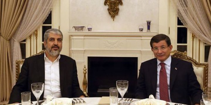 Başbakan Davutoğlu Halid Meşal ve Riyad Hicab ile Görüştü