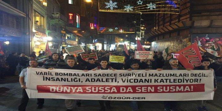 Rusya'nın Halep'teki Katliamları İstanbul'da Protesto Edildi