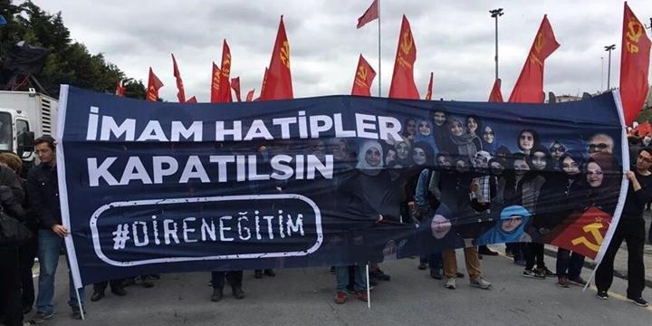 Bakırköy'deki 1 Mayıs Yürüyüşünde Çirkin Pankart!