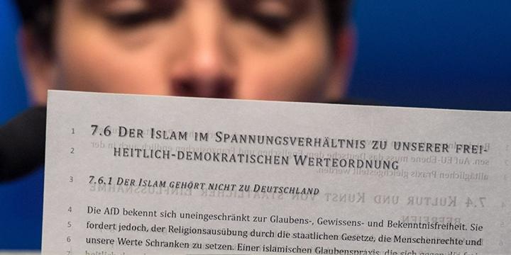 AfD: İslâm Almanya'ya Ait Değildir