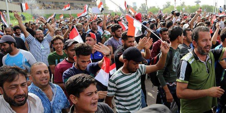 Sadr Yanlılarının Yeşil Bölge'deki Eylemi Sürüyor
