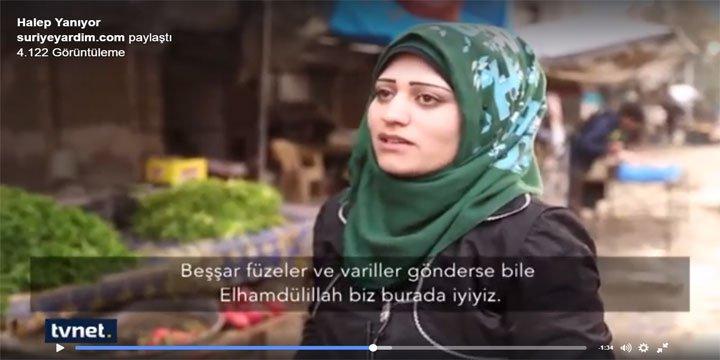 Halep Halkı: Giden Gitsin, Biz Buradayız! (VİDEO)