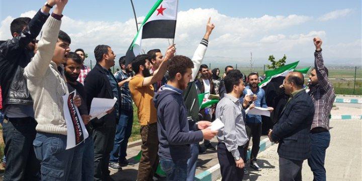 Rusya'nın Halep'teki Katliamları Muş'ta Protesto Edildi