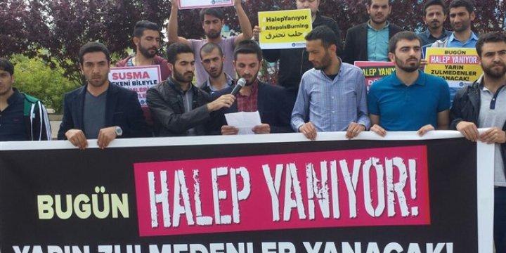 Rusya'nın Halep'teki Katliamları Bingöl'de Protesto Edildi
