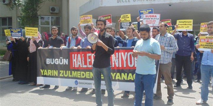 Rusya'nın Halep'teki Katliamları Dicle Üniversitesinde Protesto Edildi