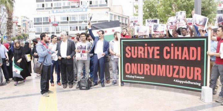 Aydın'da Eller Suriye'deki Direniş İçin Semaya Uzandı
