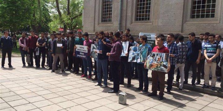 Rusya'nın Halep'teki Katliamları Kayseri'de Protesto Edildi