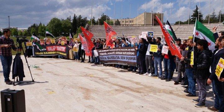 Halep'teki Saldırılar Uludağ Üniversitesi'nde Protesto Edildi