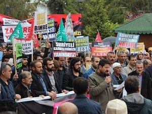 Van Suriye Dayanışma Platformu Halep İçin Meydandaydı