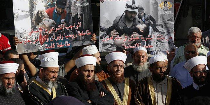 Müslüman Alimlerden Halep'e Destek Gösterisi