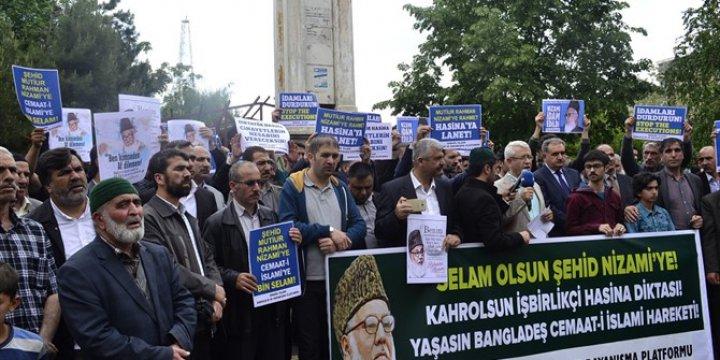 Bangladeş Yönetiminin İdamları Bingöl'de Tel'in Edildi