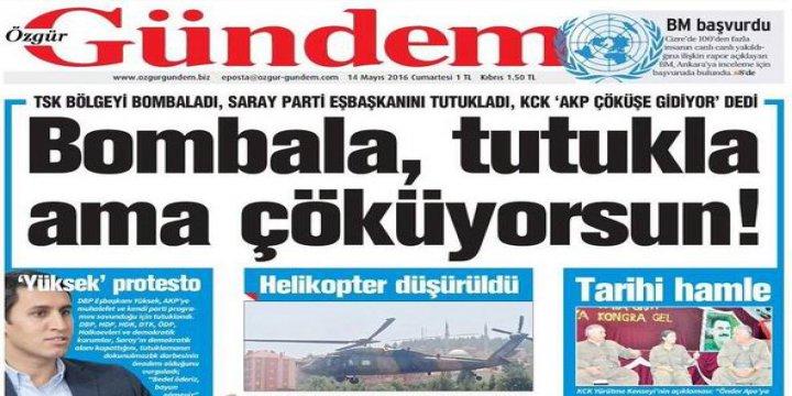 PKK/HDP Gazetelerinde Katliam Hakkında Tek Satır Haber Yok