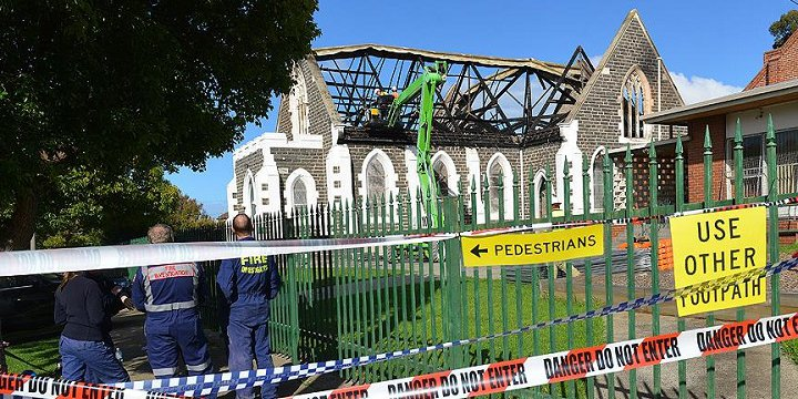 Avustralya'da Cami Kundaklandı