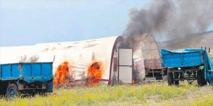 HDP/PKK'liler Mülteci Çadırını Ateşe Verdi!