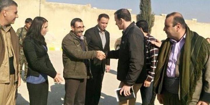 """""""ABD'li Yetkili PYD'yi Ziyaret İçin Yine Kobani'ye Gitti"""""""
