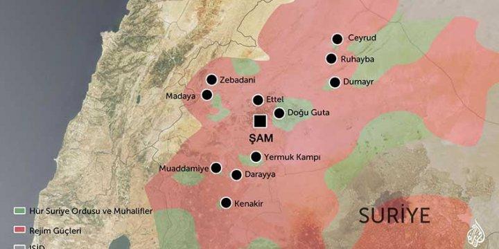 Esed Rejimi Doğu Guta'yı Ele Geçirdi