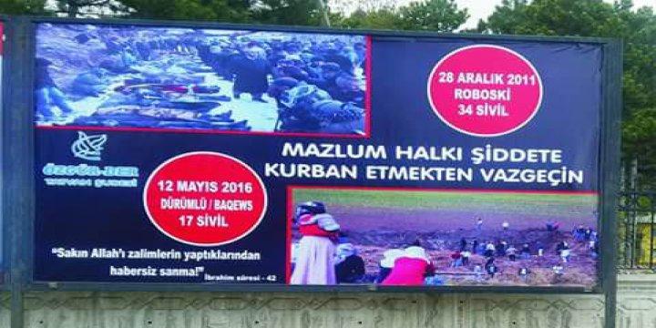 Tatvan'da Baqews Katliamı ve Rahman Nizami İçin Bilboardlar Asıldı