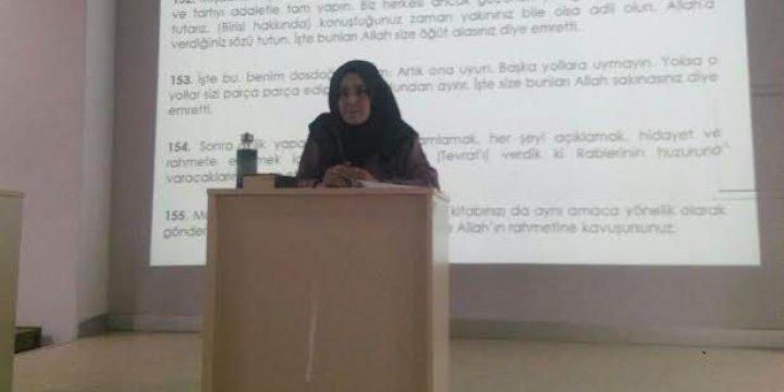 """Uludağ Üniversitesi'nde """"Dosdoğru Yolun İşaretleri"""" Semineri"""