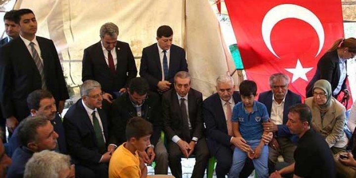 AK Parti Başkanı ve Başbakan Adayı Yıldırım'dan Dürümlü'ye Taziye Ziyareti