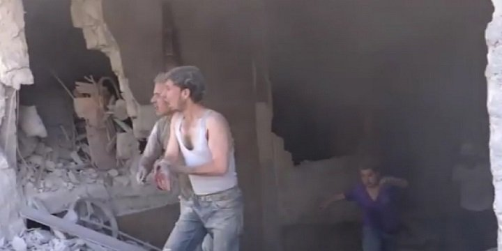 Rusya Halep'te Ekmek Fırınını Bombaladı