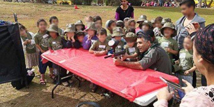 İşgal Polisinden Kreş Öğrencilerine Silah Eğitimi