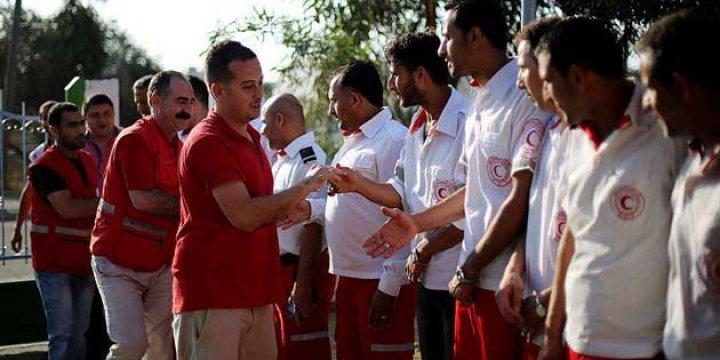 Kızılay Gazze'de Yardım İstasyonu Açtı!