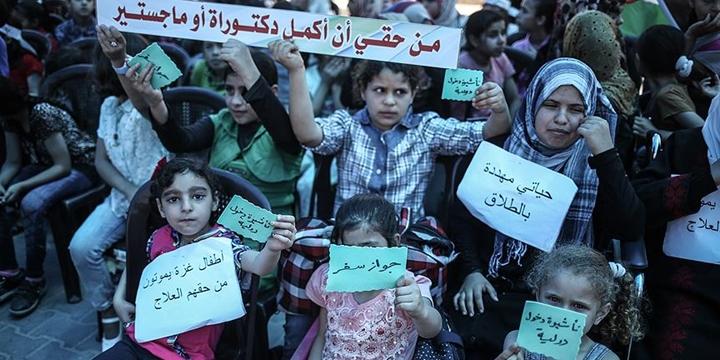 Gazzeli Çocuklar: Açlığa Hayır, Ablukanın Kaldırılmasına Evet!