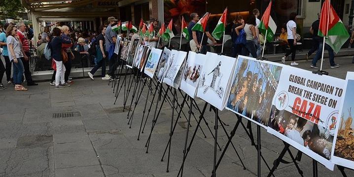 Viyana'da İşgalci İsrail'in Gazze Ablukası Protesto Edildi