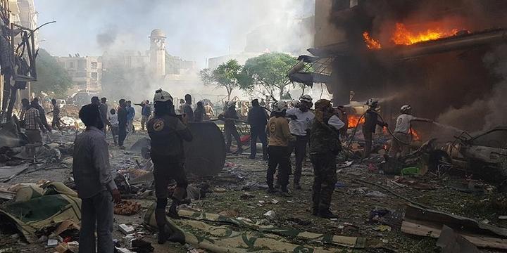 Rusya İdlib'e Saldırdı: 7 Sivil Hayatını Kaybetti!