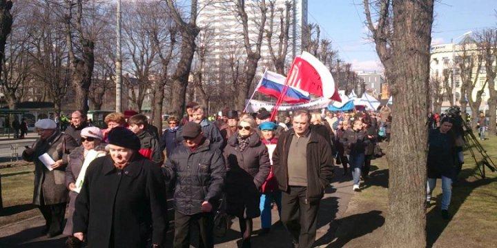 Letonya'da ABD Askerleri Protesto Edildi