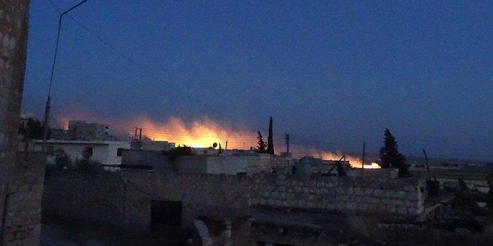 İdlib ve Halep'e Misket ve Fosfor Bombalı Saldırı