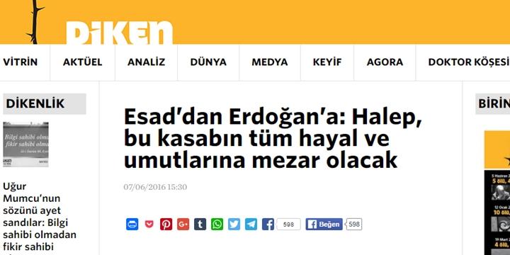 Diktatörlük Karşıtına Bakın! Esed'in Sözcülüğüne Soyunmuş!