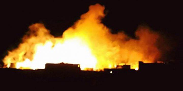 Rus ve Esed Uçakları Sahur Vakti Halep'i Fosforla Yakıyor