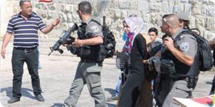 İşgal Güçleri Mescidi Aksa Kapısında Filistinli Genç Kızı Tutukladı